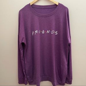Friends Graphic Long Sleeve Tee Pink Size XXL